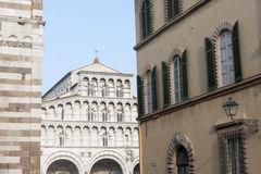 Lucca, cathedral facade Stock Photo