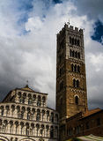 Lucca cathedral facade 01 Royalty Free Stock Images