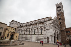 Lucca cathedral Royalty Free Stock Images