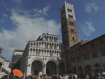 Lucca - cathedral st.Martin Stock Images