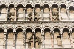 Lucca, chiesa di San Michele in Foro Fotografia Stock