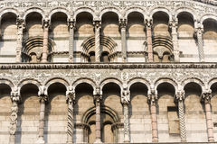 Lucca, church of San Michele in Foro Stock Photo