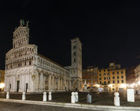 Lucca city night view. Royalty Free Stock Photography