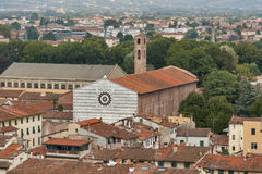 Lucca cityscape with church of San Francesco Stock Photography