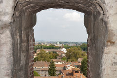 Lucca cityscape from Guinigi Tower, Tuscany, Italy Stock Photos