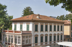 Lucca cityscape with old mansion, Italy Royalty Free Stock Images
