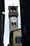 Lucca Clock Italy. Tourism in Italy, Lucca, Tuscany Royalty Free Stock Image