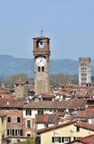 Lucca Clock Tower and St Frediano belfry stock image
