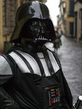 Lucca comics festival 2012, Tuscany,Italy. LUCCA,ITALY-NOV.04: man dressed like star wars characters Darth Vader poses at Lucca Comics Festival on fourth stock photos