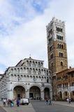 Lucca domkyrka av St Martin Arkivfoton