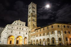 Lucca Duomo. Night view of Duomo of Lucca. Tuscany royalty free stock images