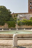 Lucca fountain in front Cathedral of San Martin Royalty Free Stock Images