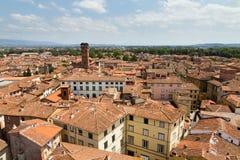 Lucca Guinigi塔视图 免版税图库摄影