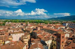 Lucca historic center roofs Stock Photography