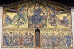 Lucca, igreja de San Frediano: mosaico Fotografia de Stock