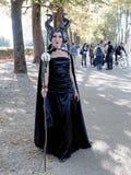 LUCCA ITALIEN - November 11: maskerar tecknad filmtecken på Lucca Royaltyfria Bilder
