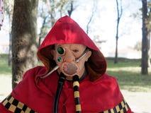 LUCCA ITALIEN - November 11: maskerar tecknad filmtecken på Lucca Royaltyfri Foto