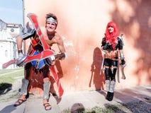 LUCCA ITALIEN - November 11: maskerar tecknad filmtecken på Lucca Royaltyfria Foton