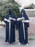 LUCCA ITALIEN - November 11: maskerar tecknad filmtecken på Lucca Royaltyfri Bild