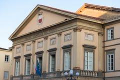 LUCCA, ITALY – MAY 23, 2017: Teatro comunale del Ciglio at Piazza Napoleone Napoleone square. Stock Photos