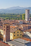 Lucca, Italy. Lucca panoramic view, Tuscany, Italy Stock Photo