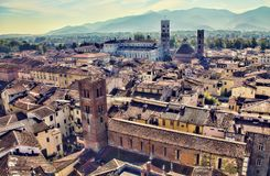 Lucca, Italy Cityscape Stock Images