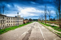 Lucca, Italy. Cityscape of Lucca, Italy. Old architecture royalty free stock image