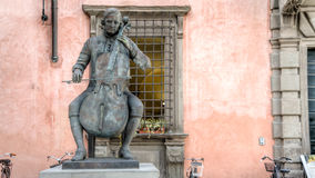 Lucca, Italy - September 04, 2014: Statue of Composer and Cellist Luigi Boccherini at famous Music Academy, Lucca, Tuscany, Italy stock photos