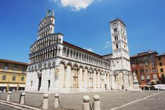 Lucca, Italy. View of the church San Michele In Foro, Lucca Stock Photos