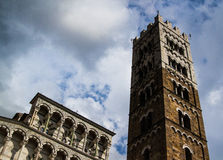 Lucca katedralna fasada 02 Zdjęcia Royalty Free