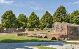 Lucca medieval city bastions, Italy Royalty Free Stock Image