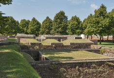 Lucca medieval city bastions, Italy Stock Images