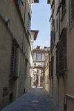 Lucca narrow street, Italy Royalty Free Stock Photography