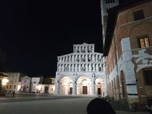 Lucca notte royalty free stock photography