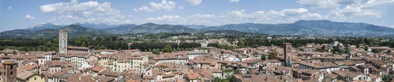 Lucca panorama Stock Photos