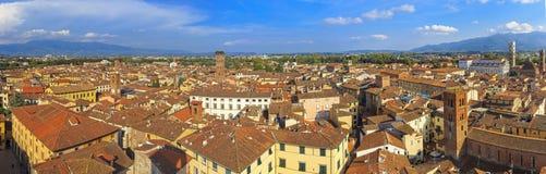 Lucca panoramisch stockfotografie
