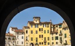 Lucca - Piazza Anfiteatro Stock Photos