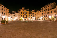 Lucca - praça Anfiteatro Foto de Stock Royalty Free