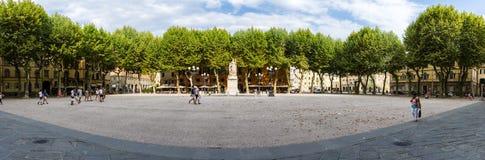 Lucca, quadrato principale Immagine Stock