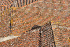 Lucca roof tile background Royalty Free Stock Photo
