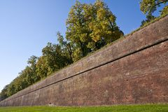 lucca s τοίχος Στοκ φωτογραφία με δικαίωμα ελεύθερης χρήσης