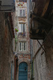 Lucca`s narrow street. Tuscany. Italy. royalty free stock images