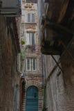 Lucca`s narrow street. Tuscany. Italy. Royalty Free Stock Images