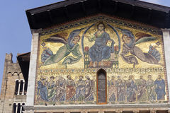 Lucca, San Frediano church: mosaic Royalty Free Stock Photos