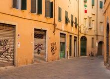 Lucca-Seitenstraße Stockbild