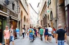 Lucca shopping street Stock Photography