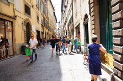 Lucca shopping street Royalty Free Stock Photos