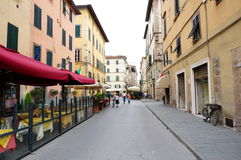Lucca street view Stock Photos