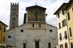 Lucca Tower, italy. Church in Lucca, Tusacny. Italy Royalty Free Stock Images
