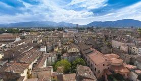 Lucca_Tuscany,意大利 免版税库存图片